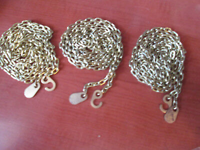 3  VINTAGE SOLID BRASS GRANDFATHER CLOCK CHAINS for URGOS UW32  (152W)