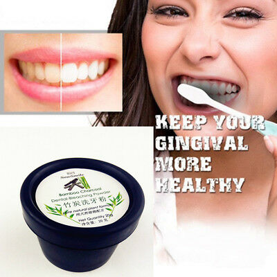 20g Teeth Whitening Powder Natural Organic Activated Charcoal Bamboo Toothpaste