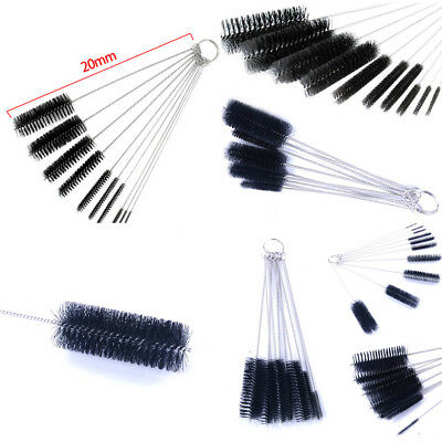 Black Stainless Steel Nylon Straw Cleaning Bottle Brushes Drinking Pipe Cleaner