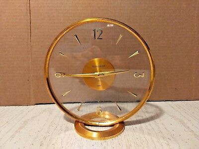 Vintage Jaeger LeCoultre Table Clock 8 Day As Is Needs Repair Swiss Made