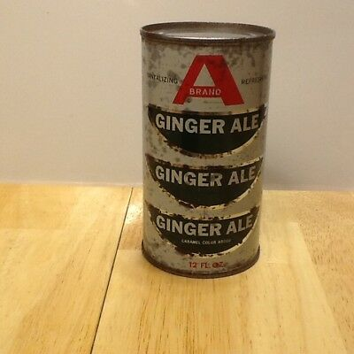 A Brand Ginger Ale Flat Top Soda Can Rare
