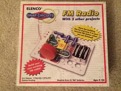 Elenco Model SCP-02 Snap Circuits Educational FM Radio Kit w/3 other projects