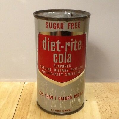 Diet Rite Cola Flat Top Soda Can
