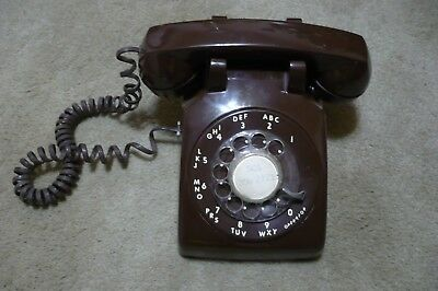Vintage/antique Stromberg-Carlson Rotary Dial Telephone,dark Brown In Color