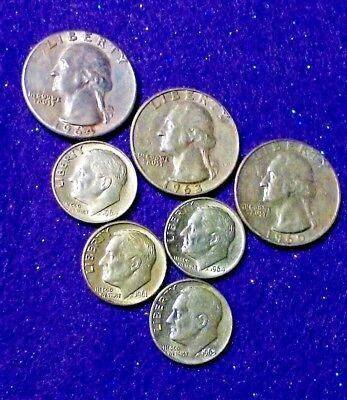 1 OZ+, AU Solid Silver Quarters and BU/PROOF Dimes... WHY BUY HERE? FIND OUT!
