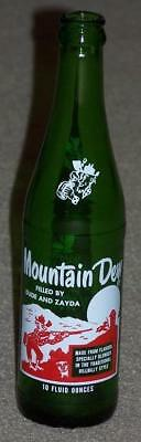 Vintage Mountain Dew Hill Billy Bottle, Filled By Dude And Zayda, 10 Ounces