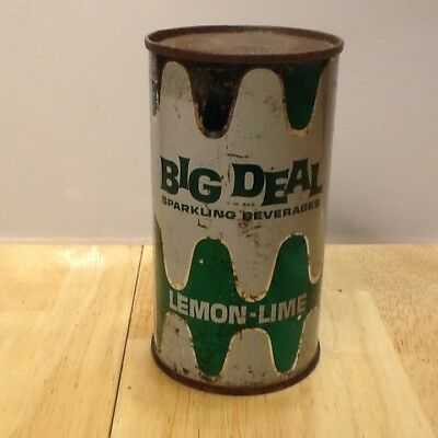 Big Deal Lemon Lime Flat Top Soda Can.