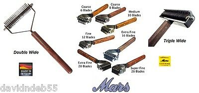 GENUINE MARS COAT KING STRIPPER DOG Cat Undercoat Hair Hand Stripping Tool Rake