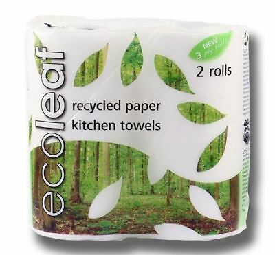 Suma Ecoleaf 3 Ply Kitchen Towel Twin Roll Pack