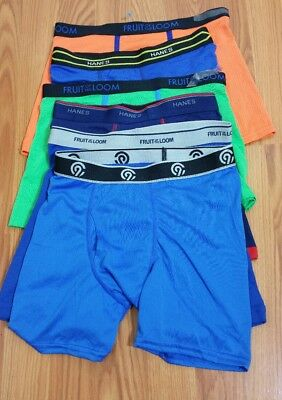 Fruit of the loom/Champion/Hanes Boy's lot of 6 Briefs NWOT LARGE14/16(#c8