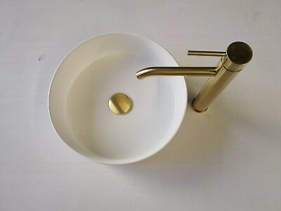 WELS round basin high counter tap faucet burnished brass  gold watermark new
