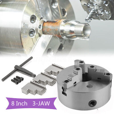 "8"" ( 8 Inch) 3 Jaw Self Centering Lathe Chuck Front Mount in Prime Quality HP"