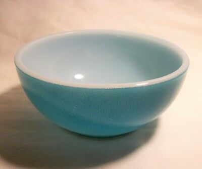Vintage Turquoise Fire King Oven Ware Cereal Bowl