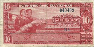 SOUTH VIETNAM 10 Dong 1962 ,P-6