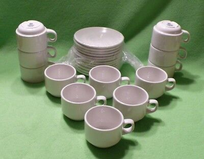 Set of 12 STEELITE England stackable demi / expresso cups & saucers.60 available