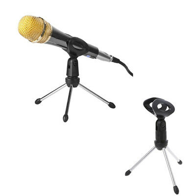 Folding Adjustable Desktop Handheld Mic Microphone Clip Holder Stand Tripod A-1