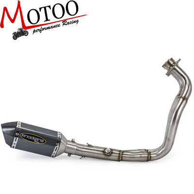 Soto-racing Full System Exhaust Muffler Connector For Yamaha MT-07 FZ 07 2014-18
