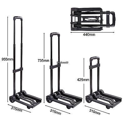 HOMDOX Cart Folding Dolly Push Truck Hand Collapsible Trolley Luggage USA
