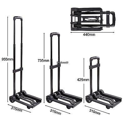 HOMDOX Folding Hand Truck, Light Weight Foldable Dolly, Folding Cart with Wheels