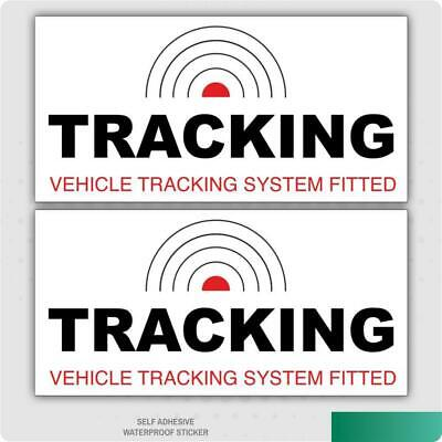 2 x TRACKING VEHICLE TRACKER SYSTEM FITTED- CAR STICKER DECAL INSIDE THE WINDOW