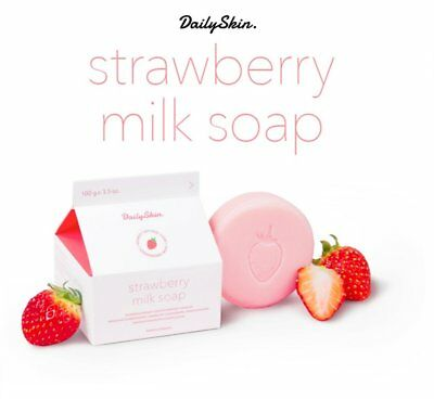 DAILY SKIN Strawberry Milk Soap 100g Korean cosmetic | Free Tracking Free sample