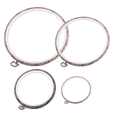 Imitation Wood Embroidery Cross Stitch Round Hoop Frame Hand Sewing Craft Tools