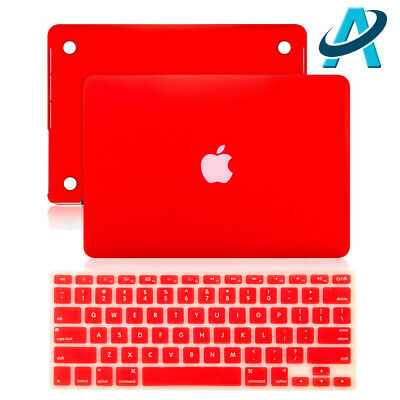 Apple Logo Shine Out Matte Hard Case+Keyboard Cover for MacBook Air Pro 11/13/15