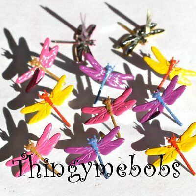 12 Bright Dragonfly Brads - Card Making/Scrap Booking/Crafts - Insects
