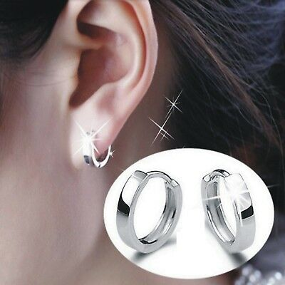 Womens Mens 925 Sterling Silver Small Round Hoop Huggie Sleeper Stud Earrings UK