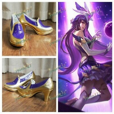 LOL LEAGUE OF Legends Star Guardian Syndra Cosplay Shoes Custom Made