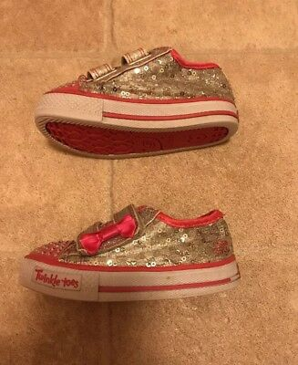 Baby Girl Sketchers Twinkle Toes Light Up 4