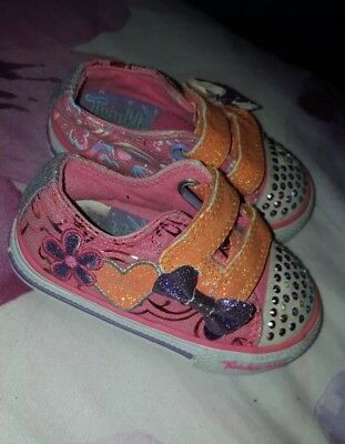 baby girls light up sketchers infant size 4 Twinkle Toes