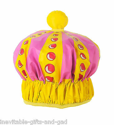 Queen of the Shower Cap Novelty Bath Cap Waterproof Bath Hat