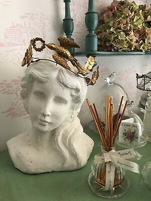 Gorgeous French Antique 19th Century Victorian Wedding Tiara with Dove in Flight