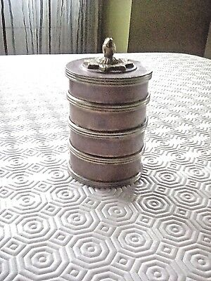 Antique Brass & Copper Spice Tower Rare and Unusual