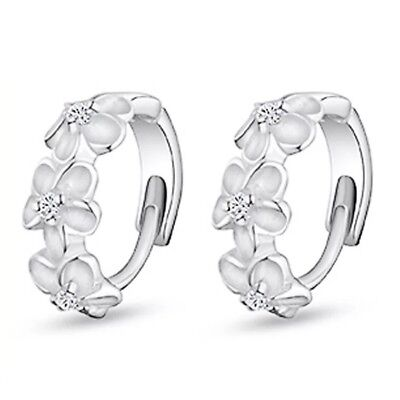 Womens Small Round Hoop Earrings Sleeper Huggie Gift 925 Sterling Silver Plated