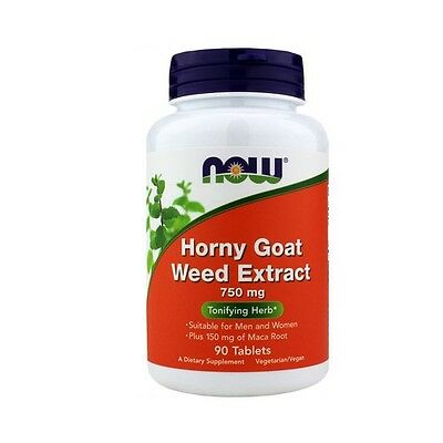 Horny Goat Weed Extract, 750mg x 90 Tablets - NOW Foods