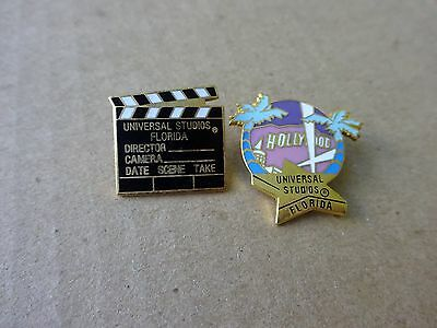 2 Older Universal Studios Pins, Hollywood and Director's Board