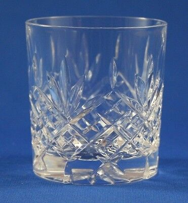 EDINBURGH CRYSTAL -  BALMORAL DESIGN  -  6oz WHISKY TUMBLER GLASS  7.8cm  /  3""