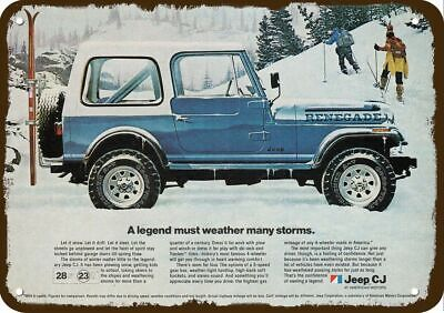 1982 JEEP RENEGADE CJ 4X4 SUV TRUCK Vintage Look REPLICA METAL SIGN - A LEGEND