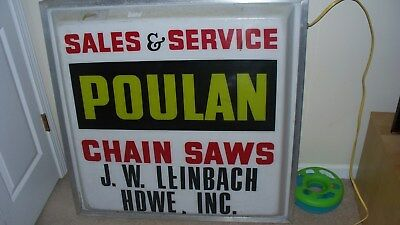 vintage poulan chainsaw sign