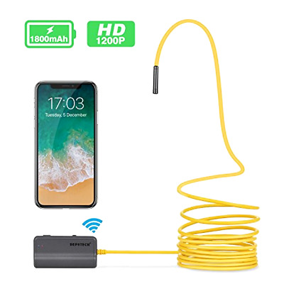 iPhone Endoscope, Depstech Upgraded Semi-rigid Wireless Borescope WiFi Inspecti