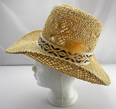 Resistol Stagecoach Mesquite Self-Conforming Tall Natural Straw Cowboy Hat-6-7/8