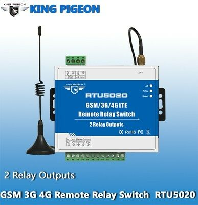 GSM 3G 4G SMS Remote Relay Switches(2 Relay Outputs) Model:RTU5020