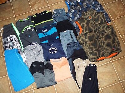 20 Piece Boys Size 7/8 Mixed Items Lot Place Nike Under Armour Penn State