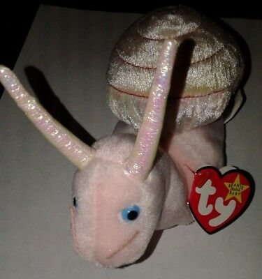 Ty Beanie SWIRLY Snail w/ Tag ERRORS Plush Toy 1999 RARE RETIRED Make Offer!
