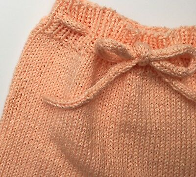 Hand-made pull-on cotton shorts/leggings for baby 0-3 months