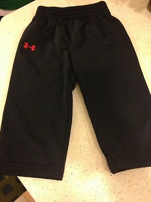 Under Armour Toddler Boys 18 Months pants Black & Red Logo Small Sweatpants