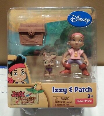 Jake & The Neverland Pirates Izzy & Patch Action Figures Fisher Price Disney NIB