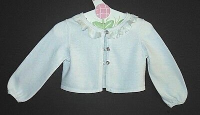Janie and Jack Special Occasion girl 2T cardigan,ruffle neck,sparkle buttons